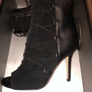 Sam Edelman Shoes - Sam Edelman lace up open toe boots